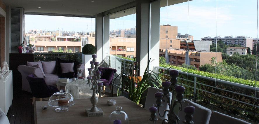 Chiusure terrazzi a vetrate scorrevoli tsh service - Vetrate per terrazzi ...