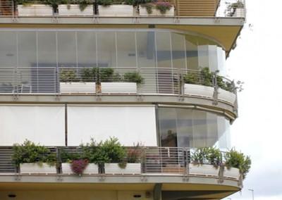 Verre fermetures pour les balcons