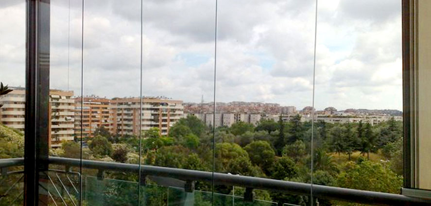 Vetrate panoramiche per ville e ristoranti