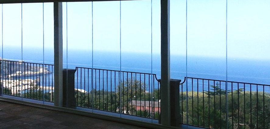 Chiusure panoramiche in vetro